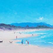 Byron Bay Beach Morning Poster