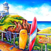 Byron Bay Lighthouse Poster by Deb Broughton