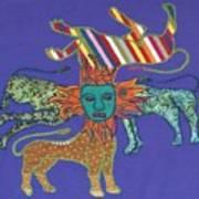 Byzantine Lion Poster