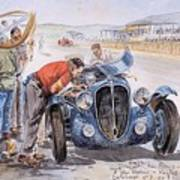 c 1949 the delahaye 135 s driven by giraud and gabantous Roy Rob Poster