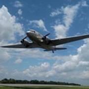 C-47 Dakota Low Pass Over Jekyll Island Airport. 2015 Poster