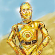 C3po Poster by Russell Pierce