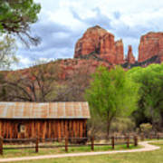 Cabin At Cathedral Rock Poster