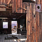 Cabin At Inyo Mine Poster