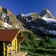 Cabin At Mt Assiniboine Lodge, Mt Poster