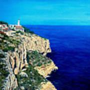 Cabo La Nao Lighthouse Javea Spain Poster