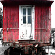 Caboose In Barn Red  Poster