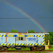 Caboose N Rainbow Poster