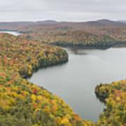 Cabot Vermont Nichols Pond Autumn Poster