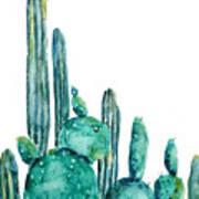 Cactus Watercolor 1 Poster