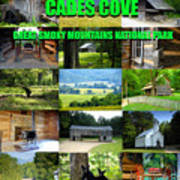 Cades Cove Collage Poster