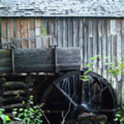 Cade's Cove Historic Cable Mill Water Wheel Poster