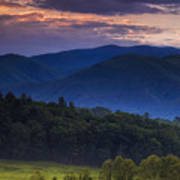 Cades Cove Morning Poster