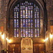 Cadet Chapel With Stained Glass Windows Poster