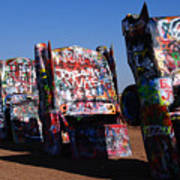 Cadillac Ranch On Route 66 Poster