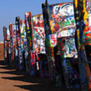 Cadillac Ranch Route 66 Poster