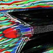 Cadillac Tail Fin Guitar Fantasy Poster
