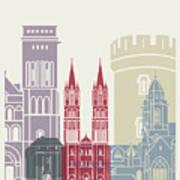 Caen Skyline Poster Poster