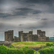 Caerphilly Castle East View 3 Poster