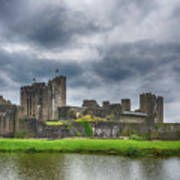 Caerphilly Castle North View 3 Poster