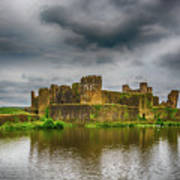 Caerphilly Castle South East View 1 Poster