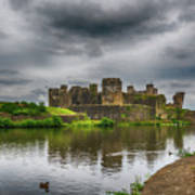 Caerphilly Castle South East View 2 Poster