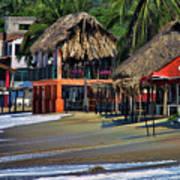 Cafe Beach Bucerias Mexico Poster
