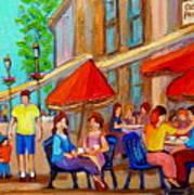 Cafe Casa Grecque Prince Arthur Poster