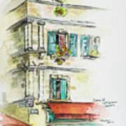 Cafe In Arles Poster