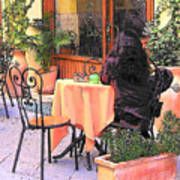 Cafe In Montepulciano Tuscany Poster
