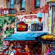 Cafe Piazzetta  St Denis Poster