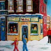 Cafe St. Viateur Montreal Poster