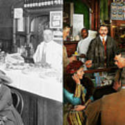 Cafe - Temptations 1915 - Side By Side Poster