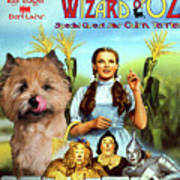 Cairn Terrier Art Canvas Print - The Wizard Of Oz Movie Poster Poster