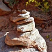 Cairns Rock Trail Marker Colorado Plateau Kanab Utah 01 Poster