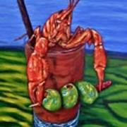 Cajun Cocktail Poster by JoAnn Wheeler