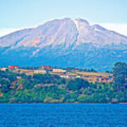 Calbuco Volcano Over Llanquihue Lake From Puerto Varas-chile Poster