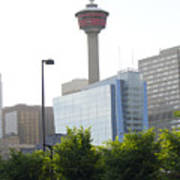 Calgary Tower View 2 Poster by Donna Munro