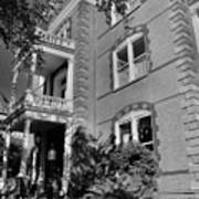 Calhoun Mansion Black And White Poster