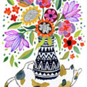Calico Bouquet Poster