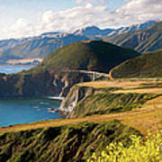 California Coast -  A View Of Bixby Ap Poster