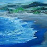 California Coastline Impressionism Poster