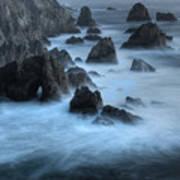 California Rocky Coastline Poster