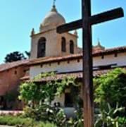 California Spanish Mission Poster