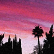 California Sunset Painting 2 Poster