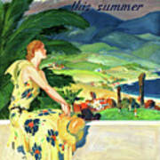 California This Summer Restored Vintage Poster Poster