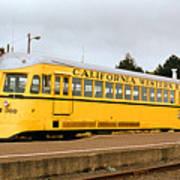 California Western Railroad Motorcar M300 Fiort Bragg California Poster