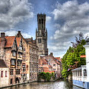 Calm Afternoon in Bruges Poster