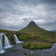 Calm Before The Storm At Kirkjufell Poster