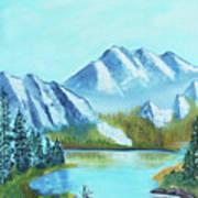 Calm Mountain Stream Poster